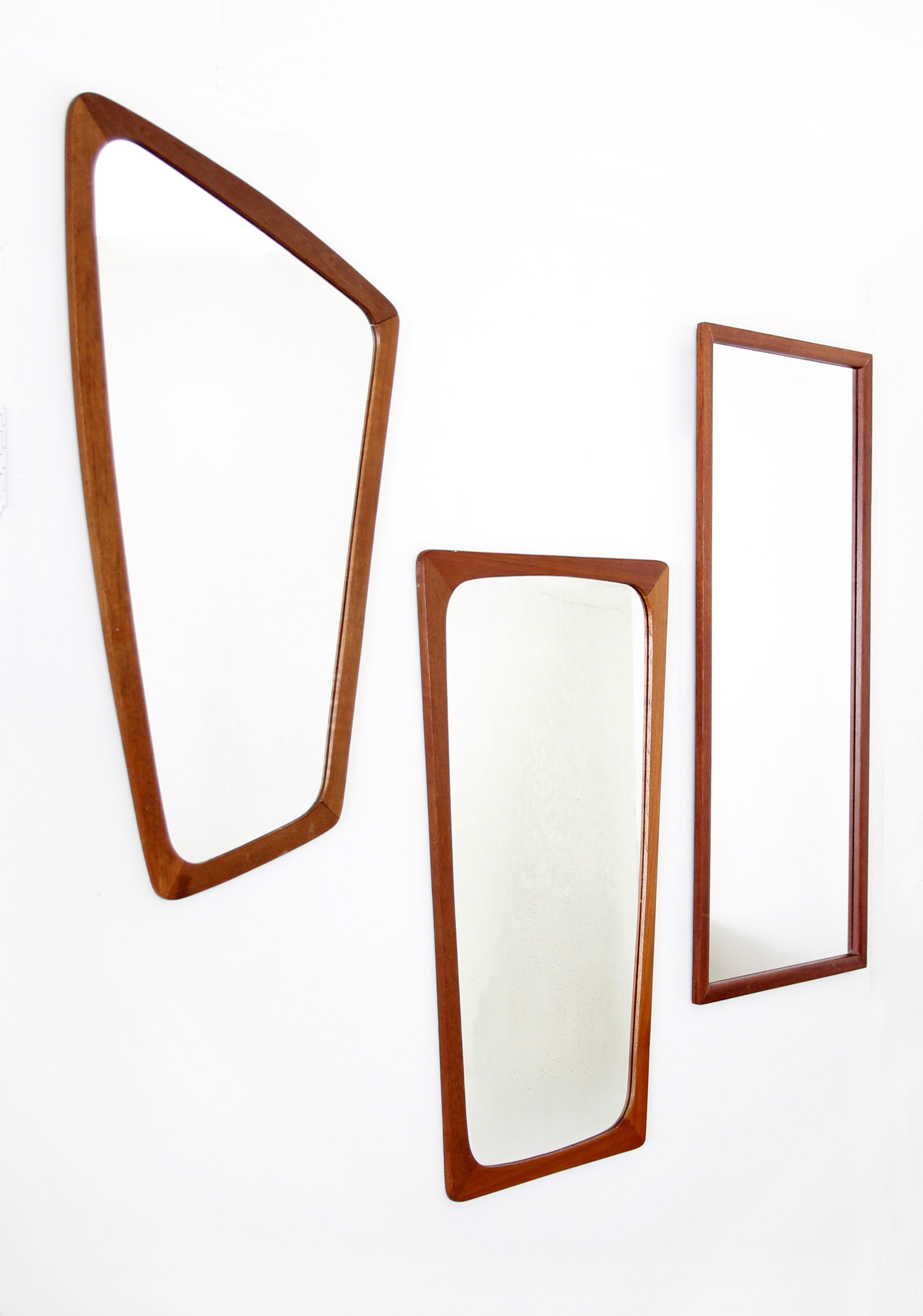 vintage teakhouten design spiegel denemarken van ons. Black Bedroom Furniture Sets. Home Design Ideas