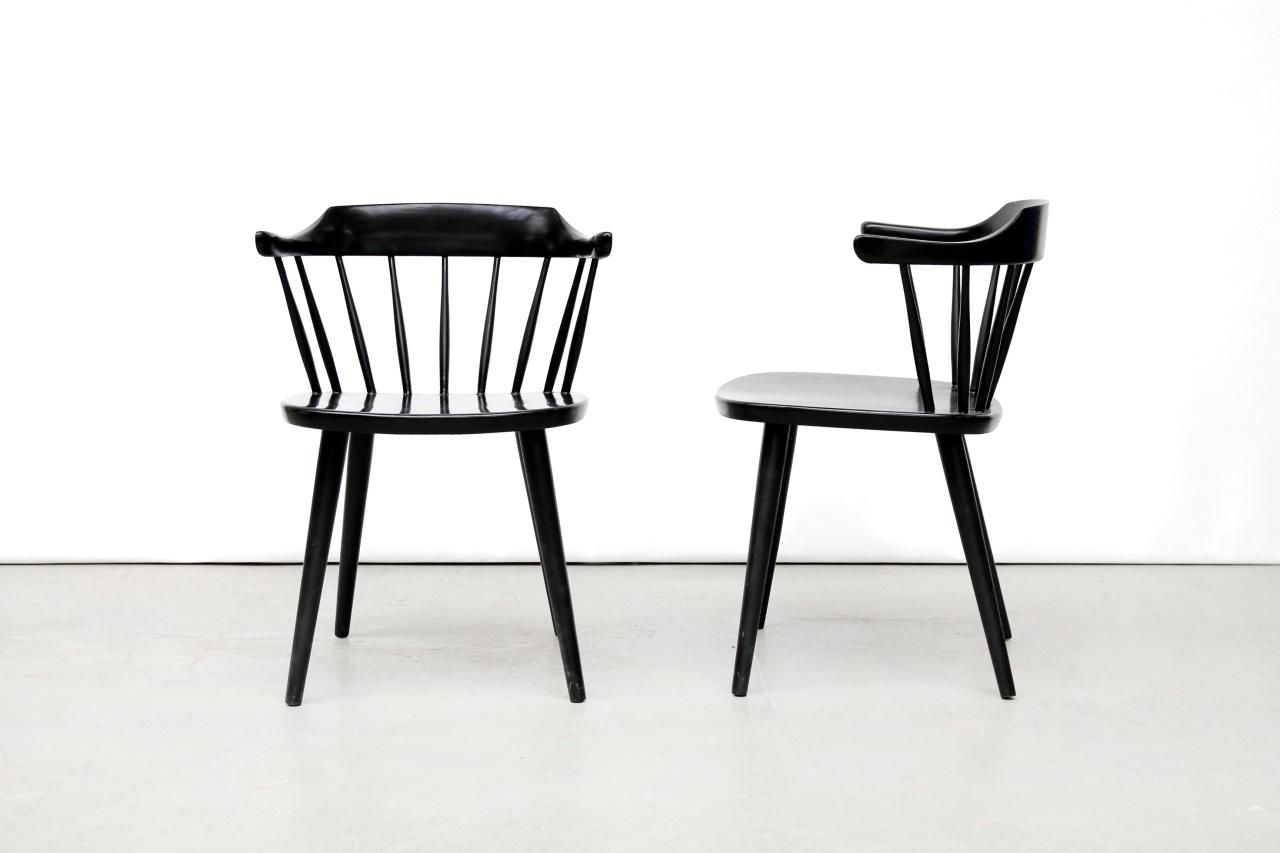 Design Pastoe Stoelen : Twee zwarte pastoe fh01 stoelen van ons