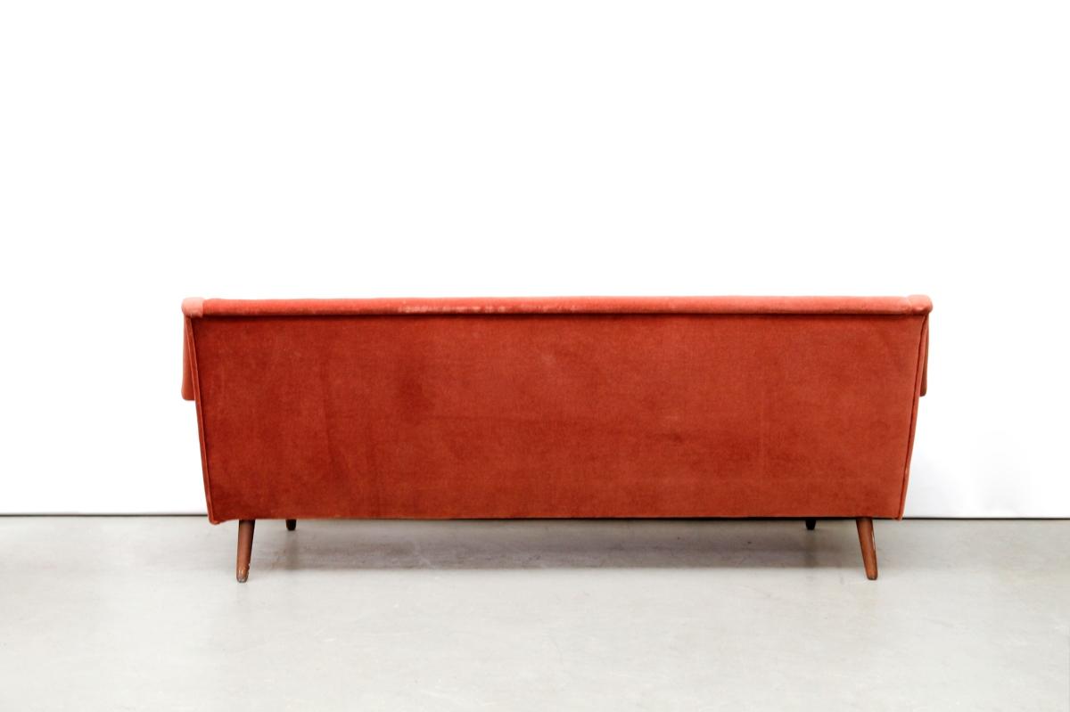 Vintage oud roze deens design bank danish design sofa van ons