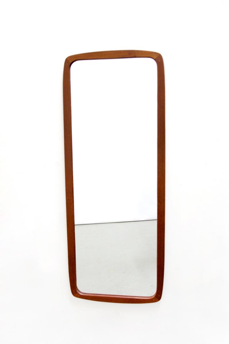 Grote deens design pas spiegel met teak houten frame design mirror van ons - Grote woonkamer design spiegel ...