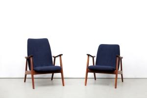 Twee vintage design fauteuils gerestaureerd
