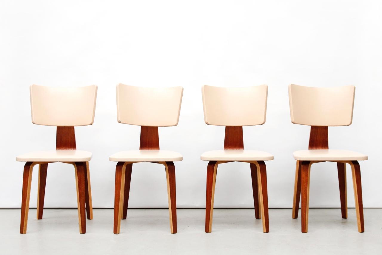 Vier Cor Alons vintage design eetkamerstoelen diningchairs van OnS ...