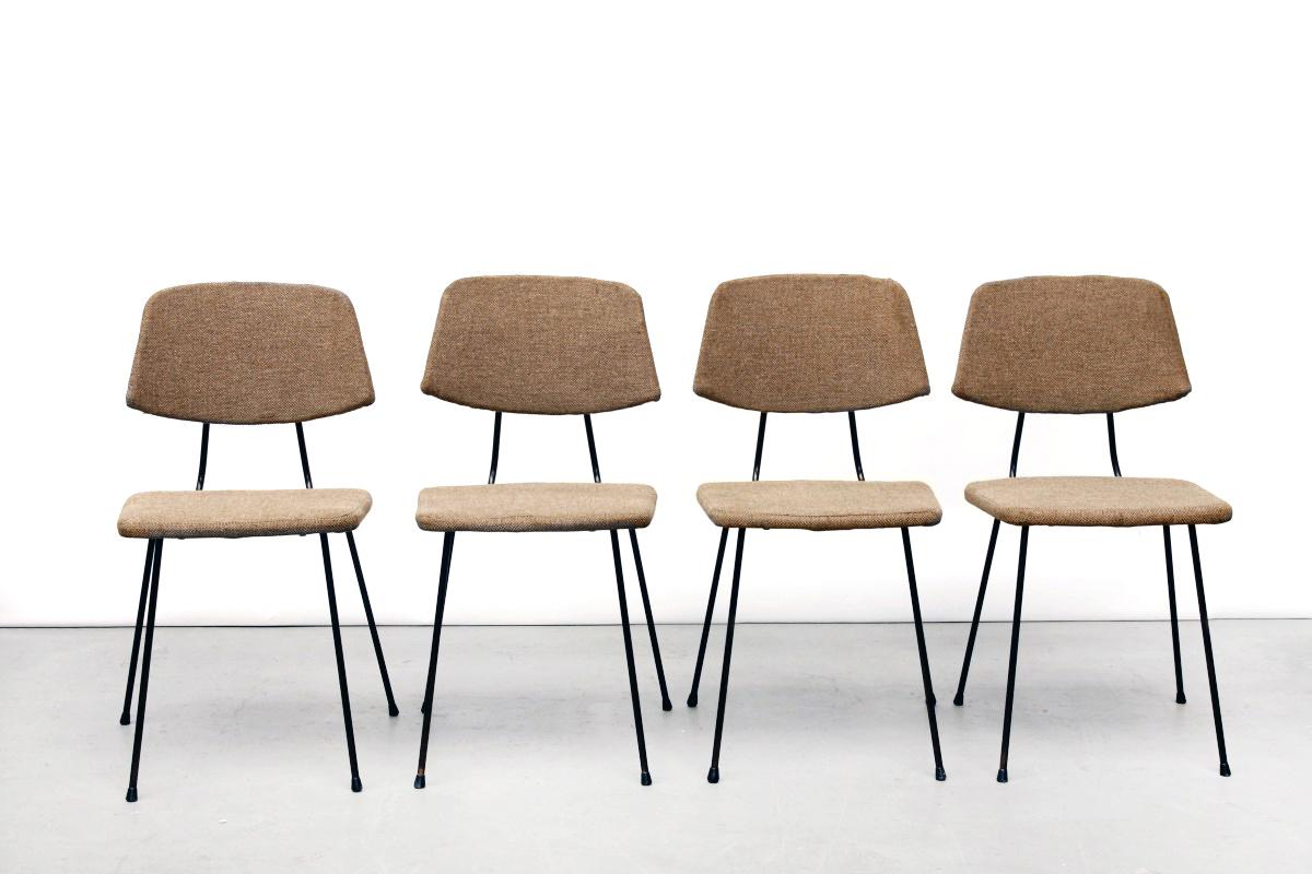 Vier eetkamerstoelen van rudolf wolf voor elsrijk van ons for Dutch design eetkamerstoelen