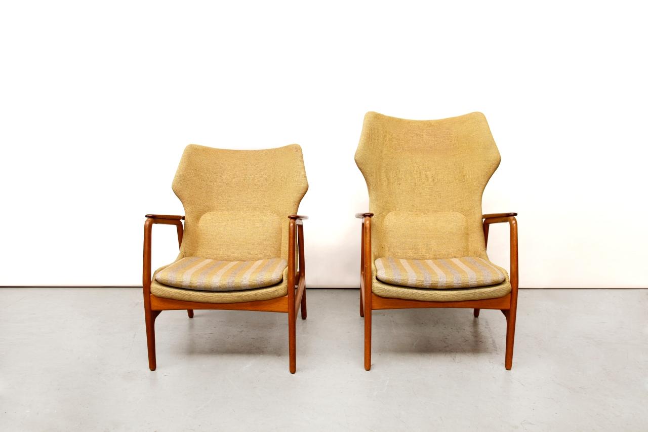 Set van twee vintage bovenkamp arm chairs van ons for Danish design meubels