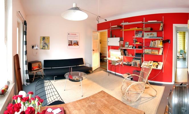 van Eesterenmuseum modelwoning woonkamer met jaren 50