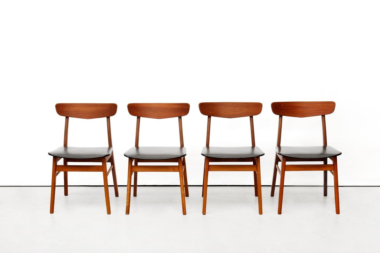Vier vintage Farstrup eetkamerstoelen van OnS design Amsterdam