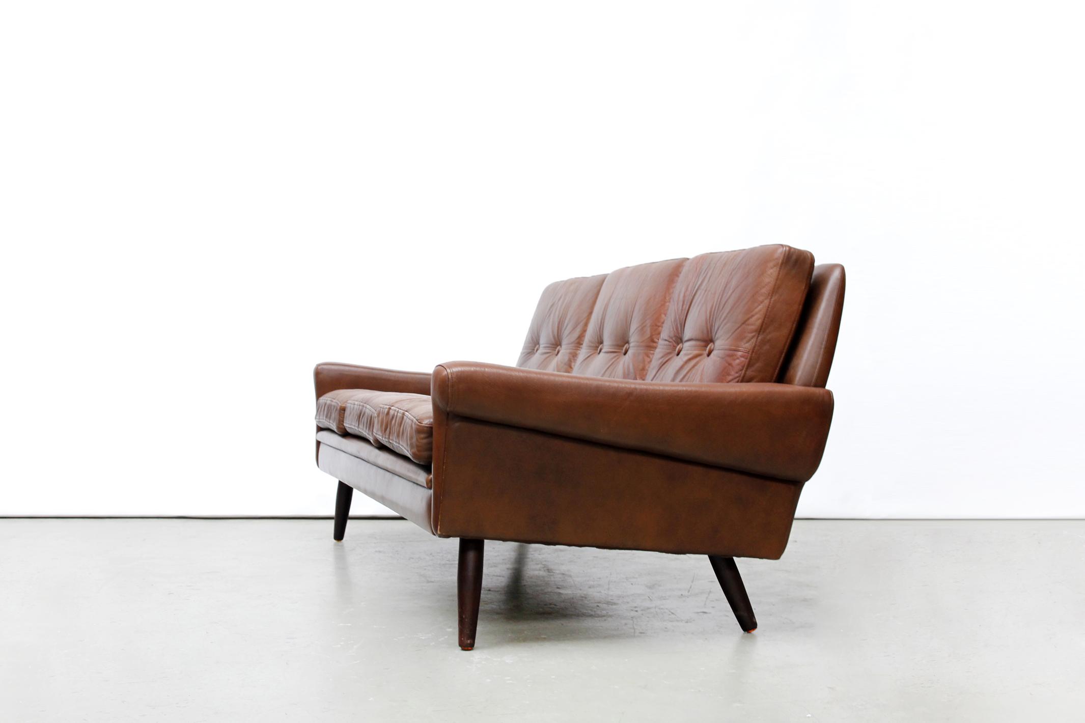 Vintage Skippers Møbler leren design bank  van OnS