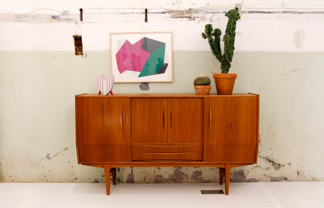 van OnS vintage deens design cabinet dressoir op de gevonden op marktplaats salon looiersgracht Amsterdam