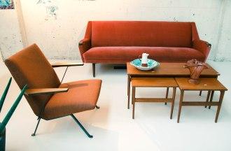 van OnS vintage deens design sofa op de gevonden op marktplaats salon looiersgracht Amsterdam