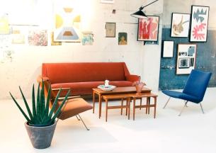 van OnS vintage deens design bank op de gevonden op marktplaats salon looiersgracht Amsterdam