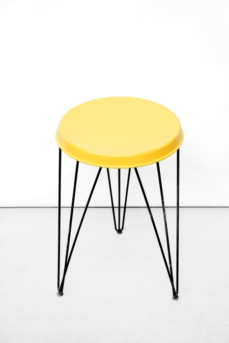 Vintage yellow Pilastro Stool