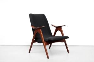 Restauratie zwarte design fauteuil After