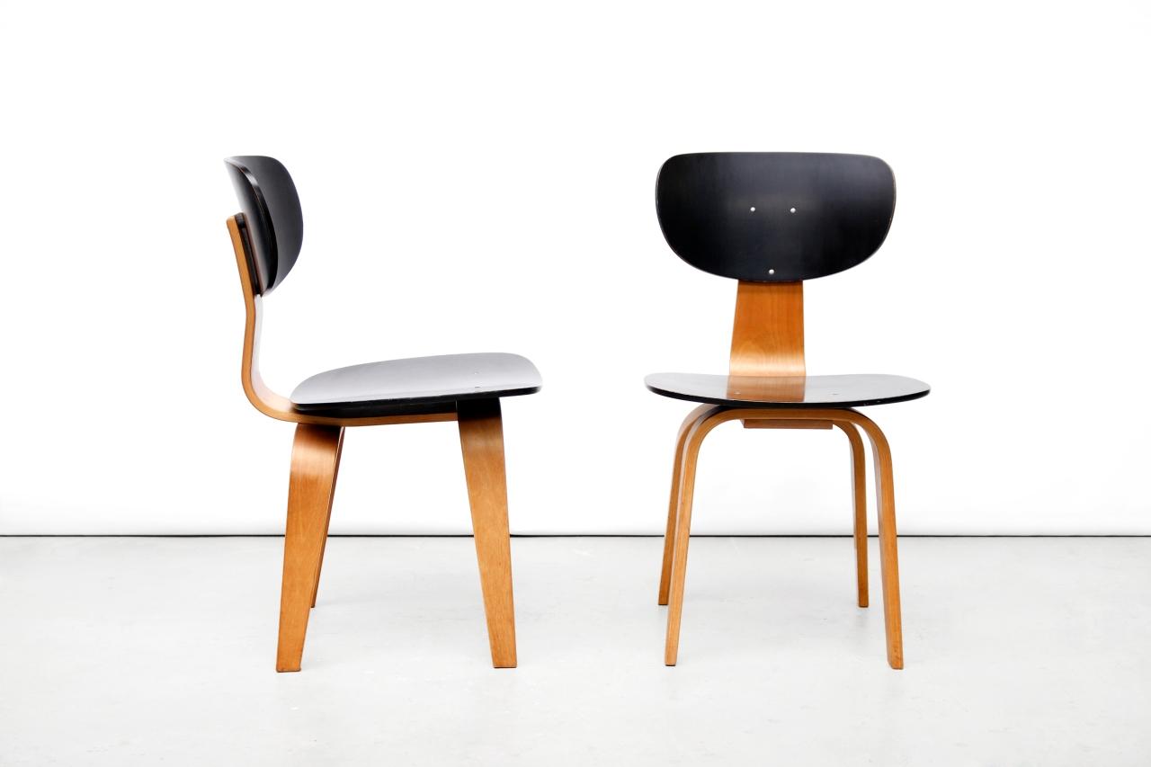 Design Pastoe Stoelen : Twee cees braakman voor pastoe sb02 stoelen van ons
