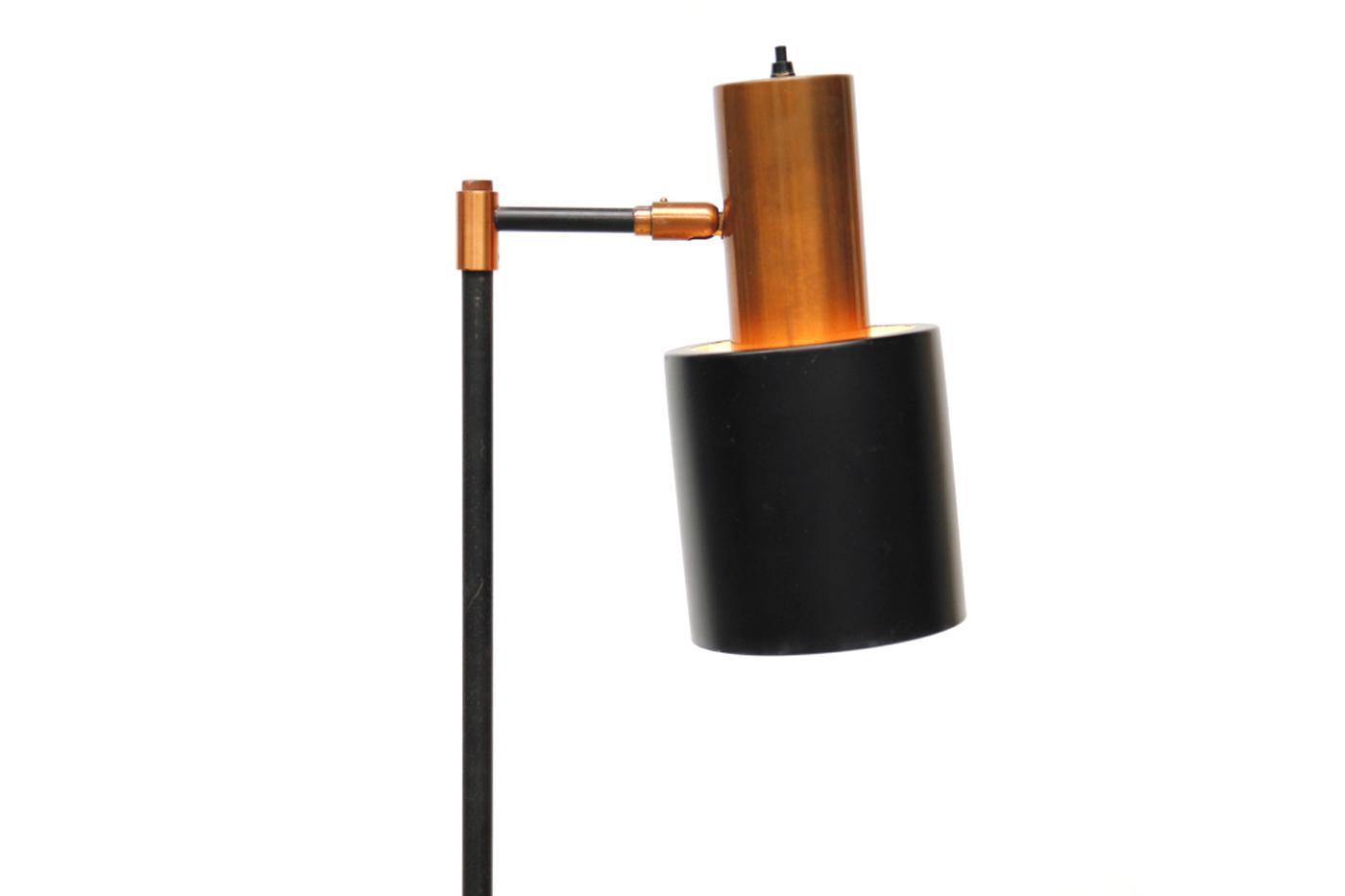 Jo hammerborg koperen studio vloerlamp van ons