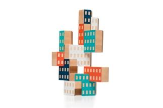 Houten Blockitecture bouw blokken van James Paulius voor AREAWARE VAN ONS design for children