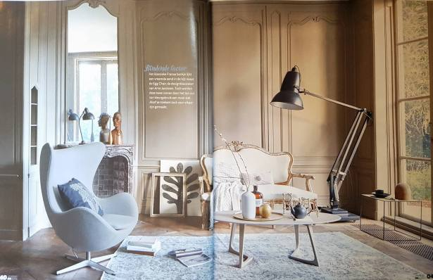 Arne Jacobsen egg chair en BMF Nagel kandelaars te koop bij VAN ONS vintage design