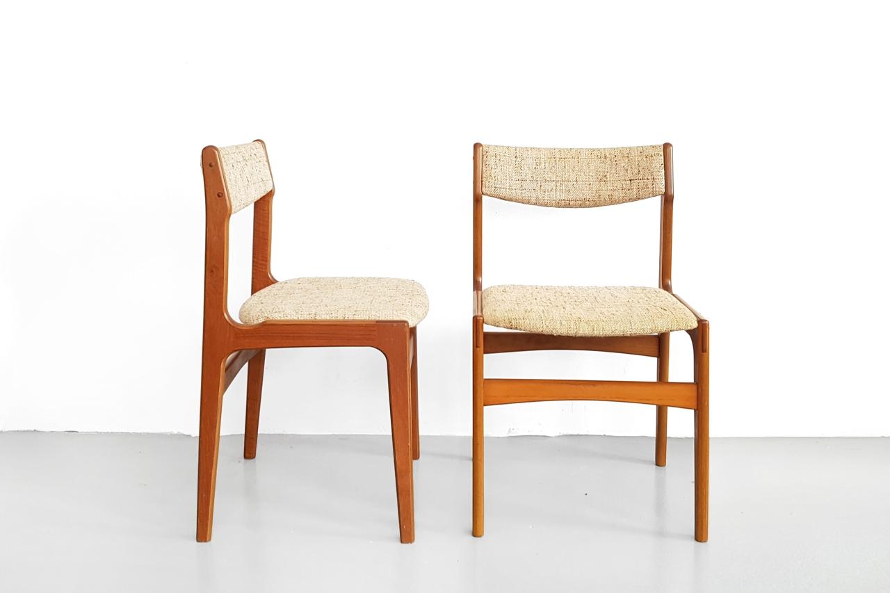 Wonderbaarlijk Set van 4 Deens design eetkamerstoelen Erik Buch | VAN ONS LY-85
