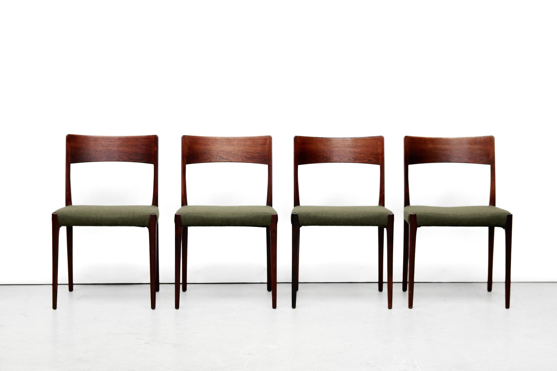 Palissander houten eetkamerstoelen van N.O Moller model 77 VAN ONS ...