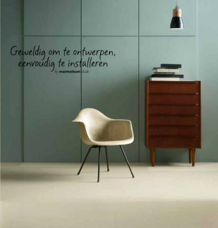 Furniture VAN ONS vintage design Brochure Marmoleum Forbo Flooring Systems Danish checy of drawers