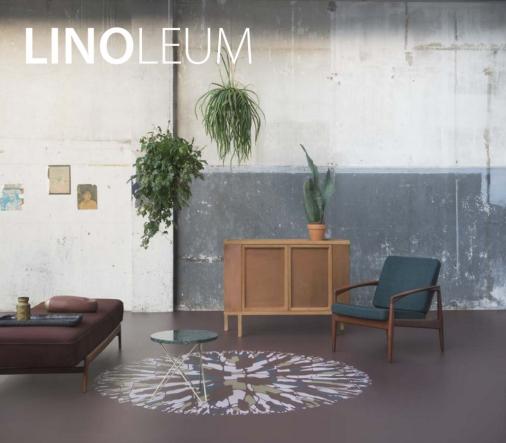 Meubels VAN ONS vintage design Brochure Linoleum Forbo Flooring Systems Pastoe daybed Kai Kristiansen Paper Knife teak armchair