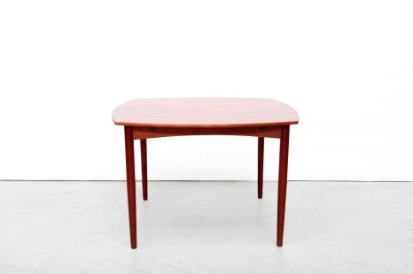 Vintage teak dining table eetkamertafel Deens design VAN ONS mid century modern Amsterdam