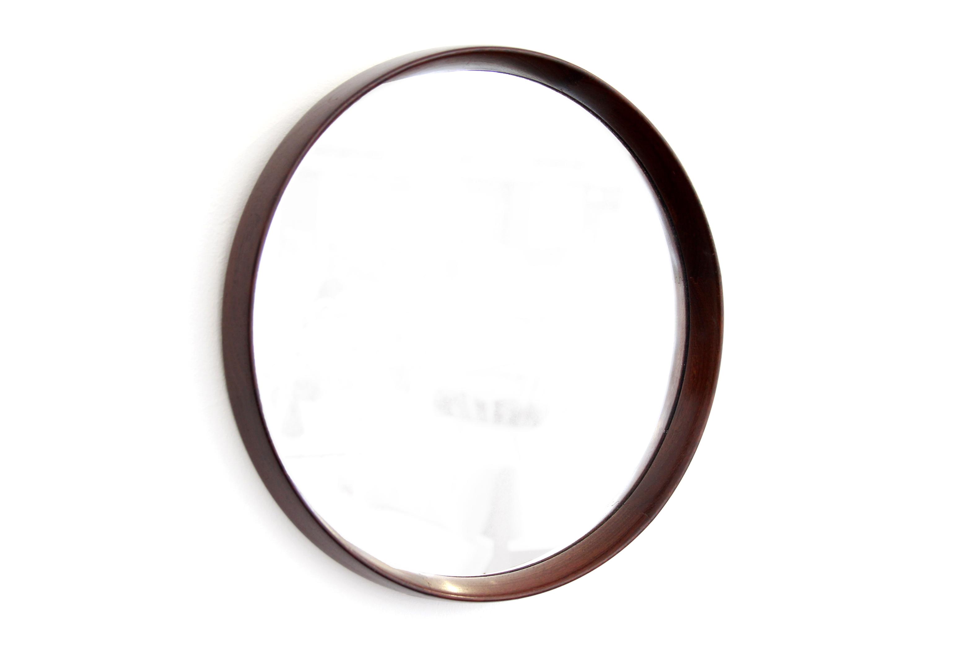 Ronde Houten Spiegel : Ronde massief wengé houten design spiegel van ons