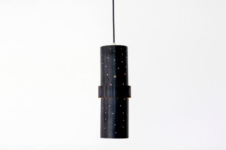 Zwarte Scandinavische cilindrische design hanglamp VAN ONS mid century modern design