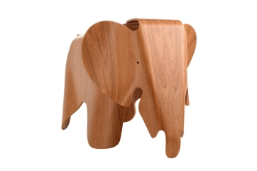 Eames plywood olifant in kersen hout Elephant in cherry