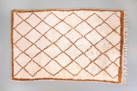 Originele vintage wollen Marokkaanse Beni Ouarain tapijt