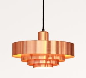 Vintage koperen design lamp te koop bij VAN ONS winkel met vintage design meubels in Amsterdam