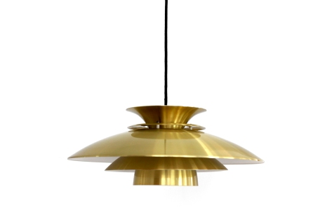 Vintage Messing kleurige Deens design hanglamp