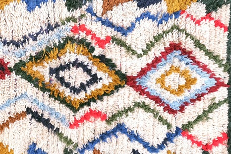 Kleurrijk Vintage Marokkaanse Azilal Berber tapijt