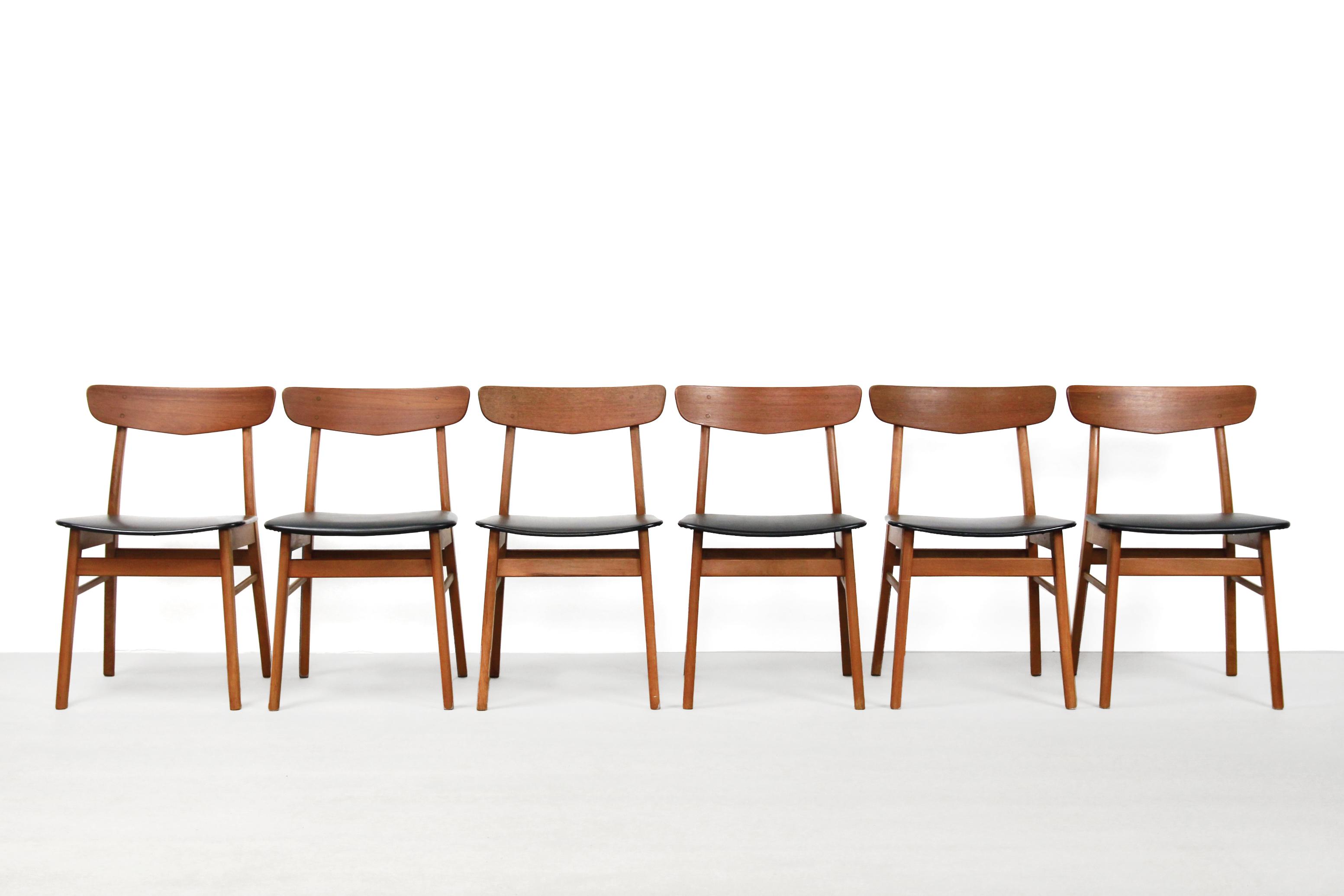 6 Design Stoelen.Set Van 6 Vintage Farstrup Deens Design Stoelen Dining Chairs Van