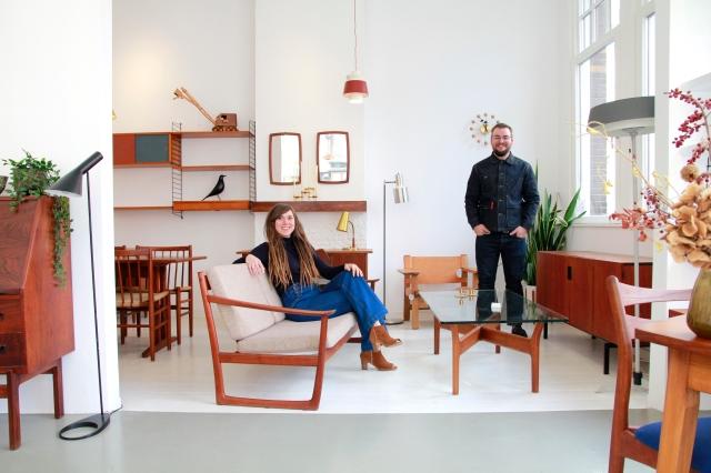 Rik en Ambra van Os van meubelwinkel VAN ONS in Amsterdam