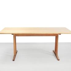 Eiken Borge Mogensen eetkamertafel voor FDB Mobler model C18 Oak dining table for sale at VAN ONS